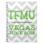 Cuaderno de Chevron de la cal de TFMU Vegas