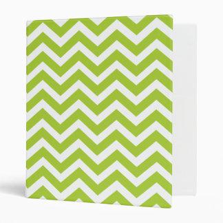 Cuaderno de Chevron de la verde lima