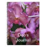 Cuaderno de color de malva de la orquídea de Singa