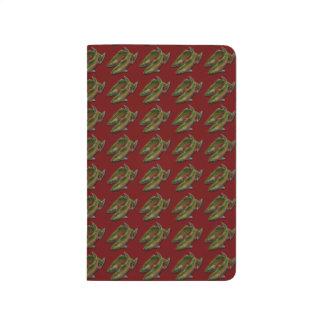 Cuaderno de color salmón de encargo del arte de la