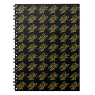 Cuaderno de color salmón de encargo del arte de lo