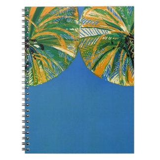 Cuaderno de Cote d'Azur de las palmeras del vintag