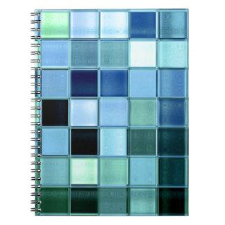 cuaderno de cristal del modelo del cuadrado del mo