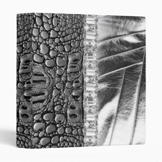 """Cuaderno de cuero metálico del diamante artificial carpeta 1"""""""