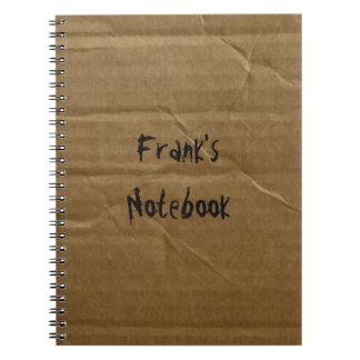 Cuaderno de encargo de la cartulina