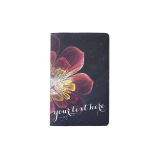 Cuaderno de encargo de la flor el   del mar de libreta de bolsillo moleskine