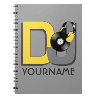 Cuaderno de encargo del color de DJ