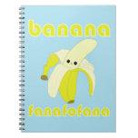 Cuaderno de Fanafofana del plátano de Kawaii