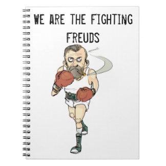 Cuaderno de Freud que lucha