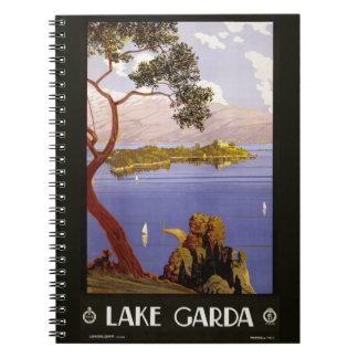 Cuaderno de Garda Italia del lago vintage