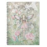 Cuaderno de hadas color de rosa lindo