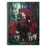 Cuaderno de hadas de la fantasía del chica rojo de