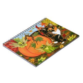 Cuaderno de hadas del otoño de la caída de los gat