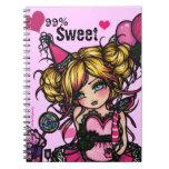 Cuaderno de hadas del rosa del chica del cumpleaño