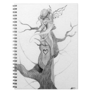 Cuaderno de hadas triste del árbol