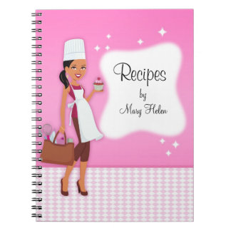 Cuaderno de Jounal de la receta del tema del