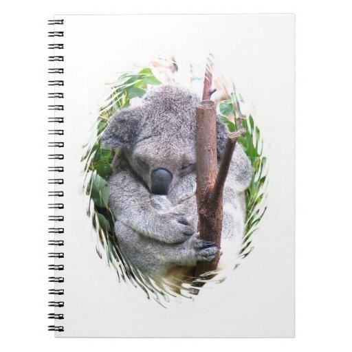 Cuaderno de la abrazo de la koala