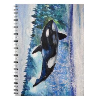 Cuaderno de la acuarela del asesino de la ballena