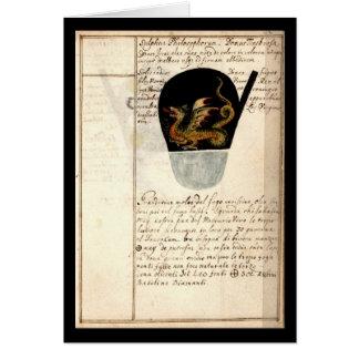 Cuaderno de la alquimia por la placa 12 de Juan Gr Tarjetón