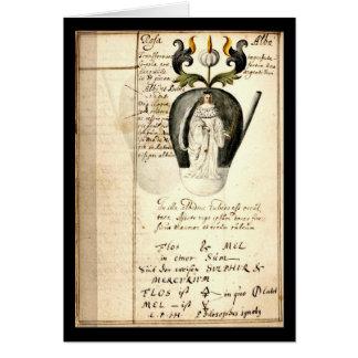 Cuaderno de la alquimia por la placa 13 de Juan Gr Felicitación