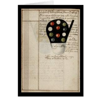 Cuaderno de la alquimia por la placa 14 de Juan Gr Tarjeta