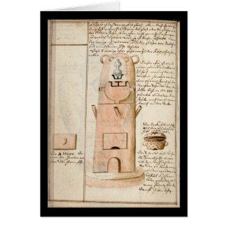 Cuaderno de la alquimia por la placa 18 de Juan Gr Tarjetón