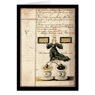 Cuaderno de la alquimia por la placa 4 de Juan Gra Tarjeta