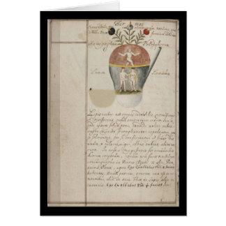 Cuaderno de la alquimia por la placa 7 de Juan Tarjeta De Felicitación
