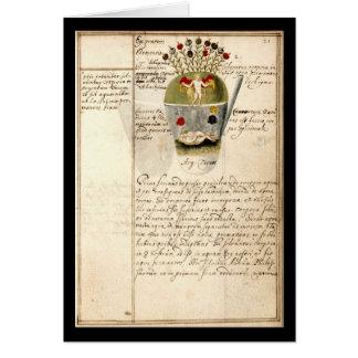 Cuaderno de la alquimia por la placa 8 de Juan Gra Tarjetón