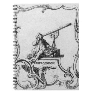 Cuaderno de la astronomía del vintage