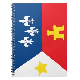 Cuaderno de la bandera de Acadiana Cajun