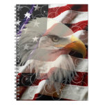 Cuaderno de la bandera de American Eagle