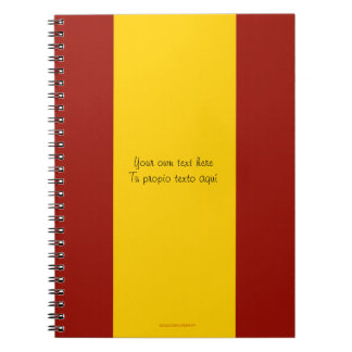Cuaderno de la bandera de España