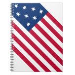 Cuaderno de la bandera de los E.E.U.U.
