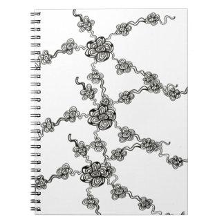Cuaderno de la cadena de flor