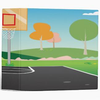 cuaderno de la cancha de básquet