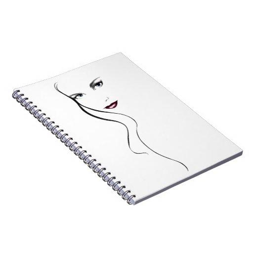 Cuaderno de la cara de la señora