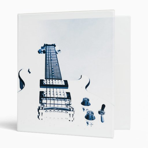 Cuaderno de la carpeta de la imagen de la guitarra