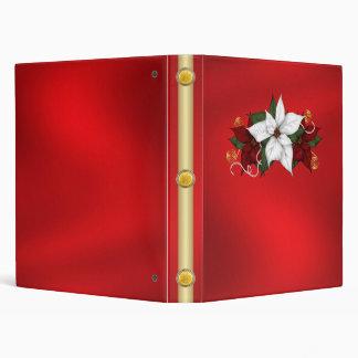 Cuaderno de la carpeta del día de fiesta del navid
