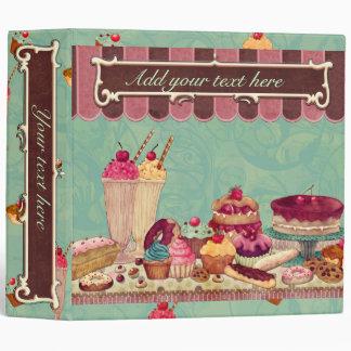 Cuaderno de la carpeta del helado de la magdalena