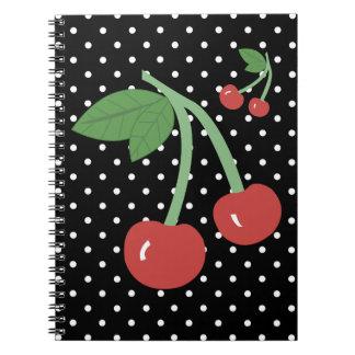 Cuaderno de la cereza de la cereza - puntos