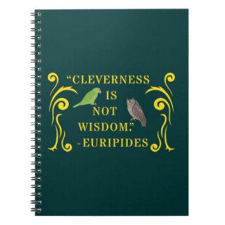 Cuaderno de la cita de la sabiduría