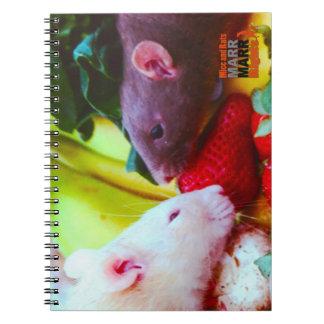 Cuaderno de la comida de la rata del arco iris