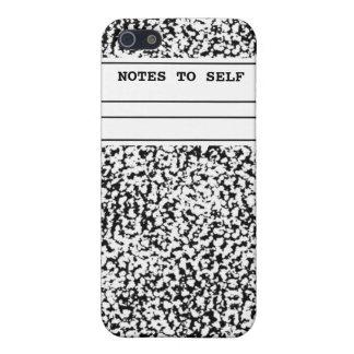 Cuaderno de la composición iPhone 5 carcasas