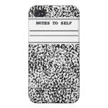 Cuaderno de la composición iPhone 4 cárcasas