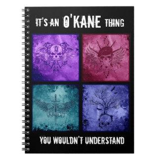 Cuaderno de la cosa de O'Kane - todos los