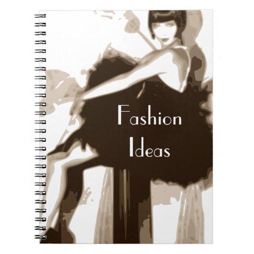 Cuaderno de la cubierta del vintage - texto adapta
