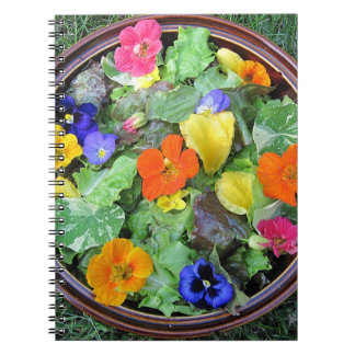 Cuaderno de la ensalada de la flor