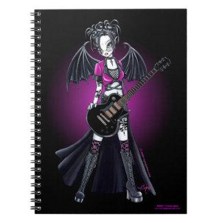 Cuaderno de la estrella del rock de la guitarra de