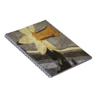 Cuaderno de la flor de la cosecha en colores del o